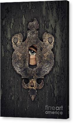 Peeking Eye Canvas Print by Carlos Caetano