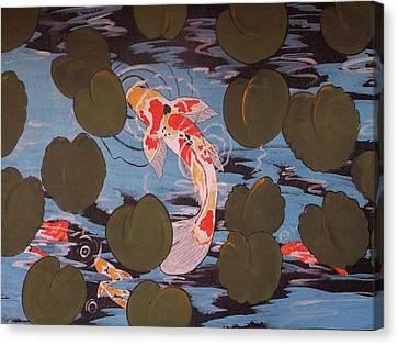 Peeking Koi Canvas Print