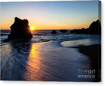 Sonoma Coast Canvas Print - Peeking Sun by CML Brown