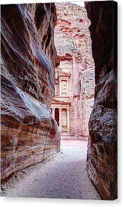 Siq Canvas Print - Peeking Through by Alexey Stiop
