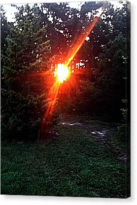 Peeping Sun Canvas Print