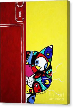 Peeping Tom Canvas Print by Chris Mackie