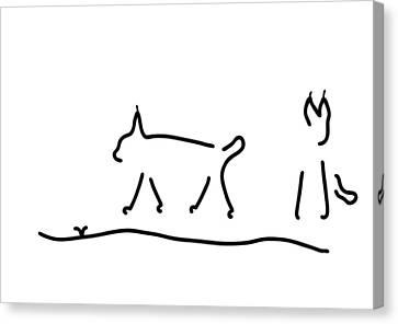 Peeps Wildcats Peep Canvas Print by Lineamentum
