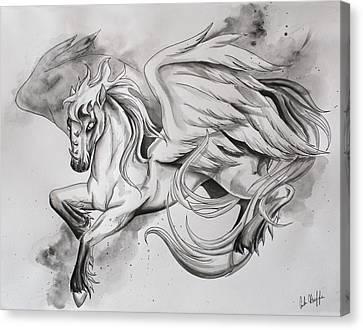 Pegasus Canvas Print by Amber Hoeffer