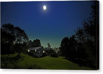 Canvas Print featuring the photograph Pegasus And Moon by Greg Reed