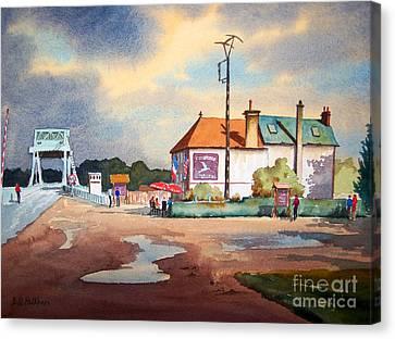 Pegasus Bridge And Cafe Gondree Canvas Print