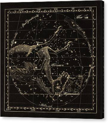 Pegasus Constellations, 1829 Canvas Print by Science Photo Library