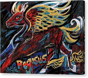 Pegasus Canvas Print by Genevieve Esson