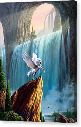 Pegasus Canvas Print - Pegasus Kingdom by Garry Walton
