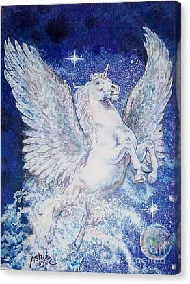 Pegasus Unicorn Canvas Print by Sheila Tibbs