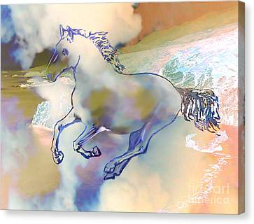 Canvas Print featuring the painting Pegasus by Ursula Freer