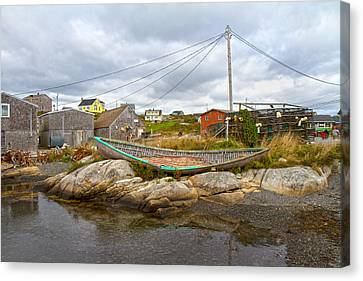 Bouys Canvas Print - Peggy's Cove 10 by Betsy Knapp