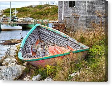 Bouys Canvas Print - Peggy's Cove 11 by Betsy Knapp