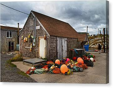 Bouys Canvas Print - Peggy's Cove 15 by Betsy Knapp