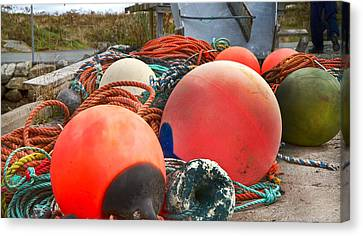 Bouys Canvas Print - Peggy's Cove 16 by Betsy Knapp