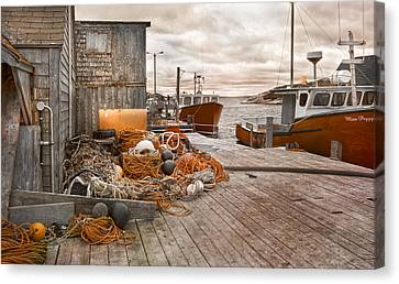 Peggy's Cove 17b Hue Canvas Print by Betsy Knapp