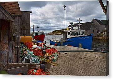 Bouys Canvas Print - Peggy's Cove 18 by Betsy Knapp