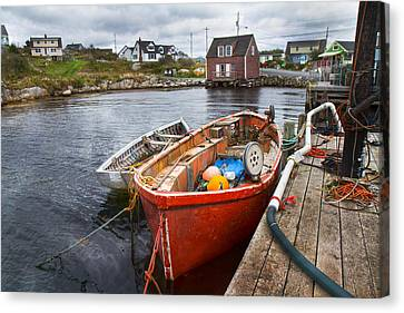 Bouys Canvas Print - Peggy's Cove 19 by Betsy Knapp