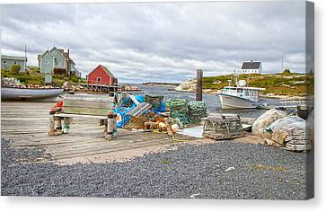 Bouys Canvas Print - Peggy's Cove 2 by Betsy Knapp