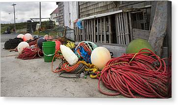 Bouys Canvas Print - Peggy's Cove 21 by Betsy Knapp