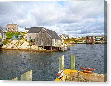 Bouys Canvas Print - Peggy's Cove 6 by Betsy Knapp