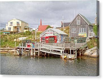 Bouys Canvas Print - Peggy's Cove 7 by Betsy Knapp
