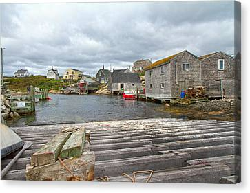 Bouys Canvas Print - Peggy's Cove 9 by Betsy Knapp