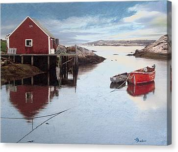 Peggys Cove Canvas Print by Brent Ander