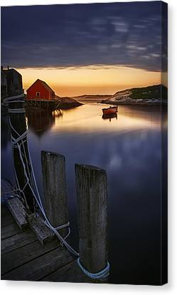 Peggy's Cove Harbour Canvas Print by Magda  Bognar