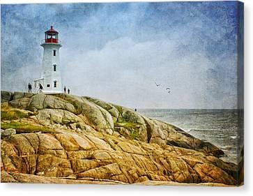 Peggy's Cove Lighthouse - 2 Canvas Print by Nikolyn McDonald