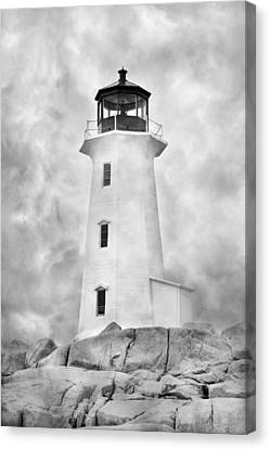 Peggy's Cove Lighthouse Canvas Print by Betsy Knapp