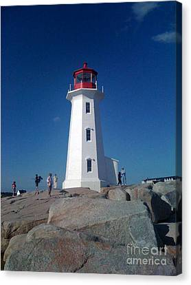 Peggy's Cove Lighthouse Canvas Print by Brenda Brown
