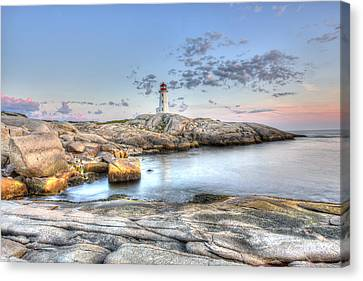 Canvas Print featuring the photograph Peggy's Cove Lighthouse by Shawn Everhart