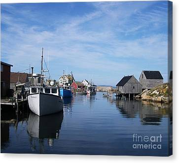 Peggys  Cove Canvas Print by Mel Steinhauer