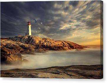 Peggy's Cove Nova Scotia Canvas Print by Magda  Bognar