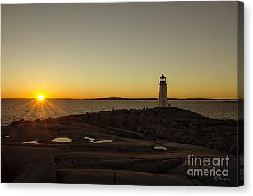 Peggy's Sunset Canvas Print by Nancy Dempsey