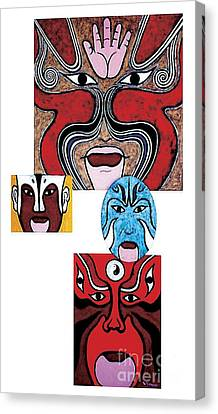 Canvas Print featuring the painting Peking Opera No.1 by Fei A