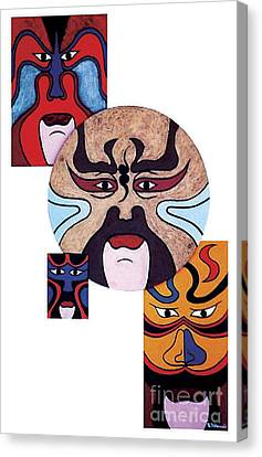 Canvas Print featuring the painting Pekingopera No.2 by Fei A