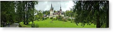 Romania Canvas Print - Peles Castle In The Carpathian by Panoramic Images