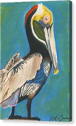 Pelican Blue Canvas Print