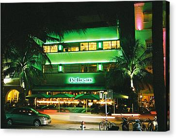 Canvas Print featuring the photograph Pelican Hotel Film Image by Gary Dean Mercer Clark