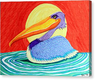 Pelican In The Sun  Canvas Print by Nick Gustafson