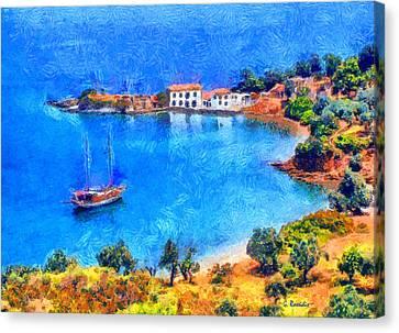 Pelion Tzasteni Canvas Print by George Rossidis