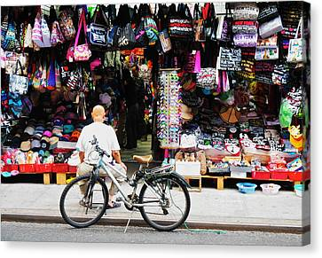 Canvas Print featuring the photograph Pell St. Chinatown  Nyc by Joan Reese