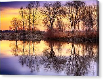 Pella Crossing Sunrise Reflections Hdr Canvas Print by James BO  Insogna