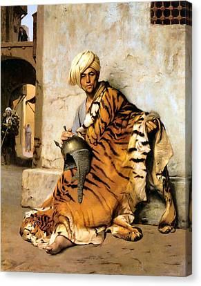 Pelt Merchant  Canvas Print by Jean Leon Gerome
