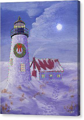 Pemaquid Christmas Canvas Print by Jerry McElroy