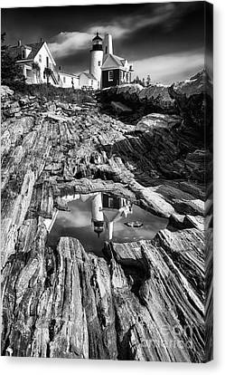 Pemaquid Light Reflections Canvas Print by George Oze