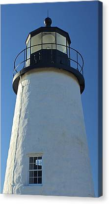 Canvas Print featuring the photograph Pemaquid Lighthouse by Amazing Jules