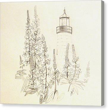 Pemaquid Lighthouse Canvas Print by Howard Elliott